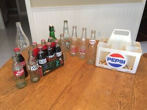 Vintage Coca-cola / soda / beer bottles & cases