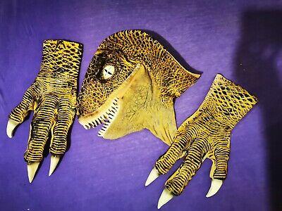 Official Jurassic Park Latex Velociraptor Mask