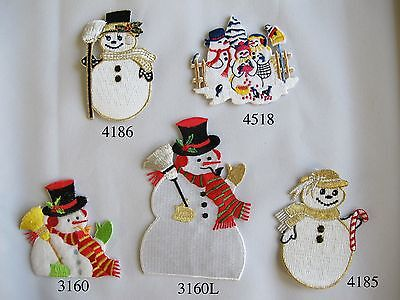 Christmas Snowmen Embroidery Iron On Applique Patch ()