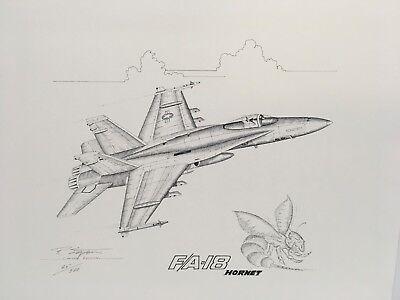 F/A-18 HORNET - AVIATION ART PRINT