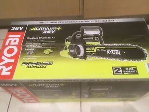Ryobi 36v cordless chainsaw kit new rrp$549 Kingston South Canberra Preview