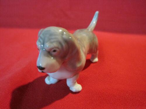 Vintage porcelain Basset Hound dog figurine