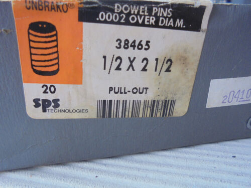 Unbrako, 38465, Spiral, Pull out Dowel Pin, 1/2 x 2 1/2, (10) units for $12.95