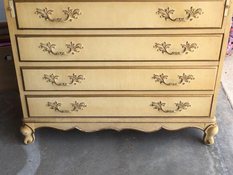 Vintage French Provincial Secretary Dresser