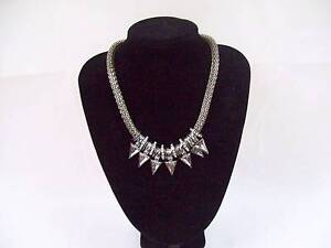 Womens Collar Necklace with Diamonte Charms - Bold & Fashionable Blakeview Playford Area Preview