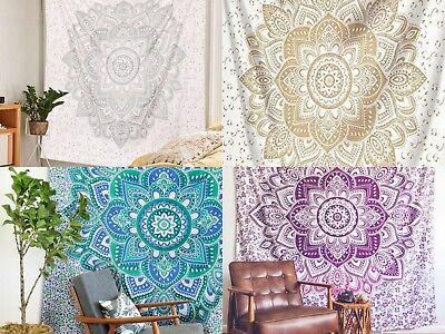 Lotus Tapisserie Mandala Wandbehang Tagesdecke Wohnheim Dekor Hippie Werfen (Hippie Decke Werfen)