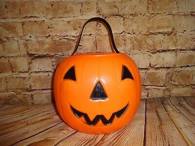 Vintage EMPIRE Halloween Jack O Lantern Pumpkin Candy Bucket 14 023652 Blow Mold