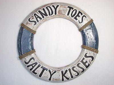 LG SANDY TOES SALTY KISSES LIFE PERSERVER RING WALL ART TIKI BAR DECORATIONS