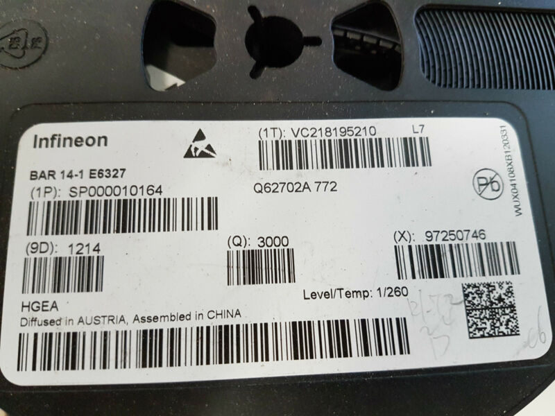 RF Switching DiodeI Infineon BAR14-1 Dual Series  SOT23 Lot of 100 pieces