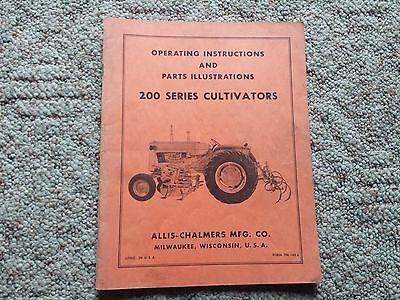 Original Allis Chalmers Operating Manualparts 200 Series Cultivators Tm-145a