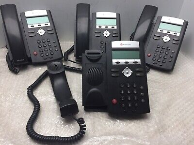Lot Of 4 Polycom Soundpoint Ip 335 Poe Hd Voip Ip Office Phone 2201-12375-001