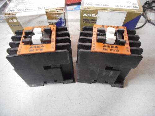 ASEA CONTACTORS -- Qty of 2 -- EH9-10 4.5kW and EH15-10 8kW -- 240ac coils
