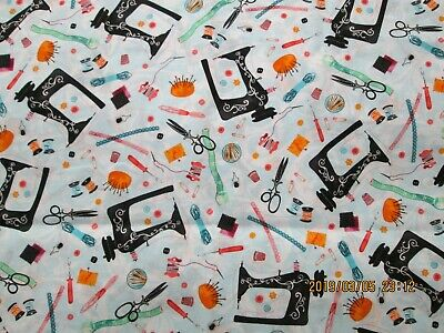 SEWING  HANDMADE WITH LOVE 100%  COTTON FABRIC