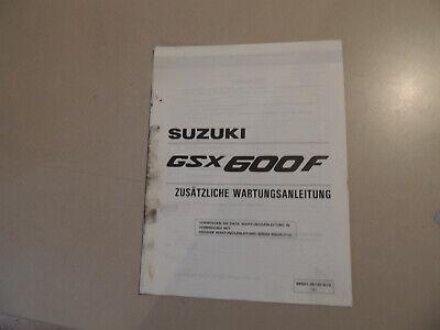 Suzuki GSX600 F 1996  Ergänzungs Werkstatthandbuch Reparaturanleitung Heft gebraucht kaufen  Flensburg