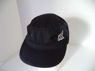 Organic cotton Cadet cap Irish celtic knot green black patrol military corps hat