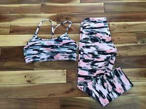 Lululemon crops and sports bra