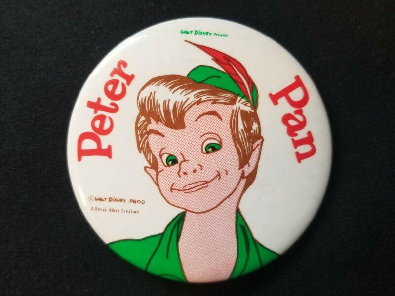 """Walt Disney Presents Peter Pan 3.5"""" Badge Pin Button"""