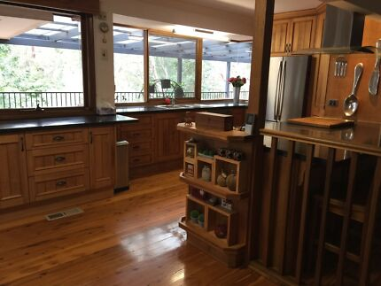 Complete timber veneer kitchen Caeserstone benchtops, some appliances