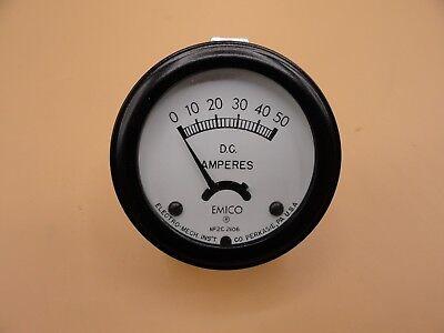 Analog Emico Panel Meter Dc Ammeter 0 - 50 Amps