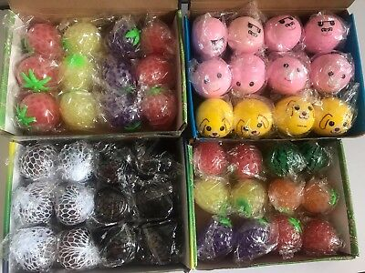 1BOX Anti Stress Face Reliever Squishy Mesh Ball Grape Healthy Squeeze WHOLESALE - Squishy Mesh Stress Ball