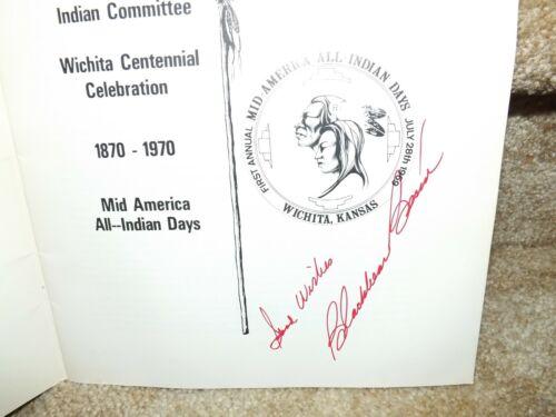 People of the South Wind-1969 Program - Wichita, KS - SIGNED BY Blackbear Bosin