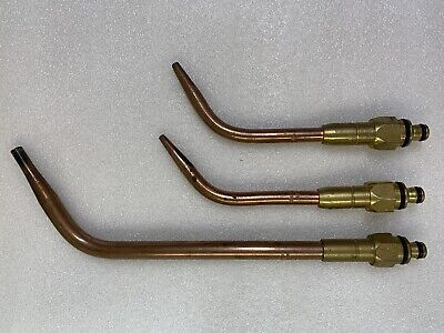 Lot 3 Purox 30 Oxweld 4a 2a Torch Welding Cutting Brazing Torch Tips