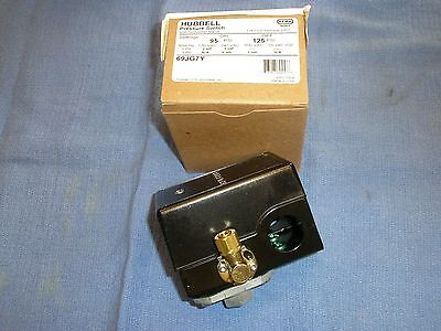 Furnashubbell 69jg7y Air Compressor Pressure Switch 95-125psi Old 69mb7y