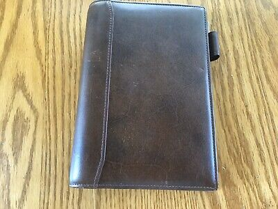 Franklin Covey Small Brown Leather Planner 6 Ring Binder
