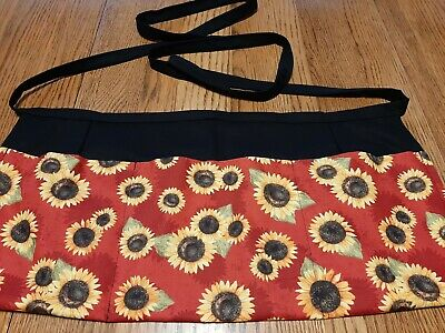 Waitress Apron 3 Pockets Sunflowers