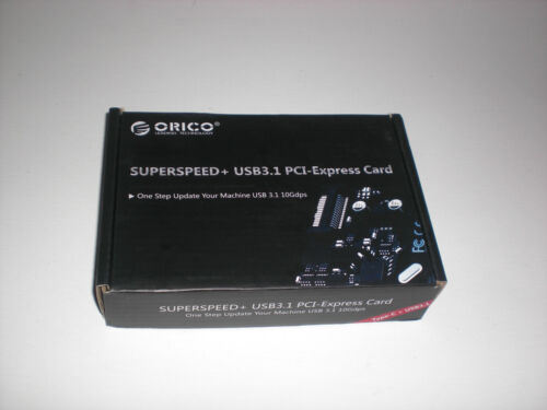 ORICO Superspeed+ USB3.1 PCI-Express Card 10Gbps - New