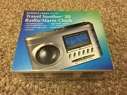 NEW !  SEALED !  Sharper Image Travel Sound Soother 20 Radio Alarm Clock SI621