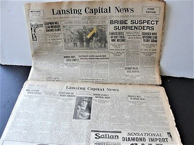 Lansing Capital News-Lancing, Mich. October 11/12 1929, Newspapers-Dif.Sections.