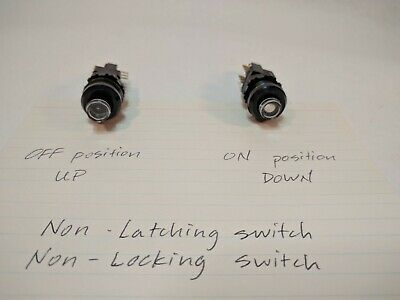 Ck Schadow Switch Dpdt Non-latching Push Button Sleepy Eyes Winking White Eye