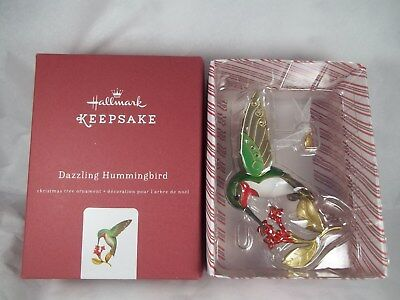 Hallmark 2016 Premium Dazzling Hummingbird Ornament Beauty of Birds