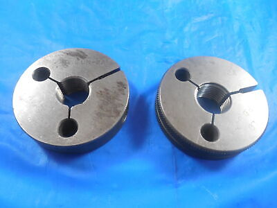 1116 16 Un 2a Thread Ring Gages .6875 Go No Go P.d.s .6455 .6407 Quality
