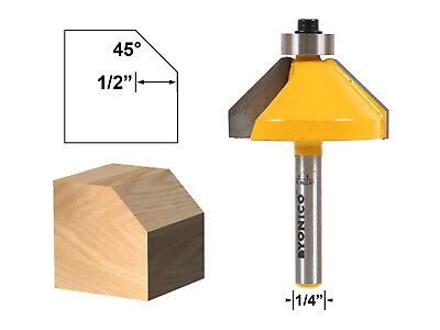 45 Degree Chamfer Edge Forming Router Bit - 1/4