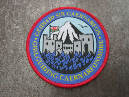 Caernarfonshire Girl Guides Cloth Patch Badge (L12S)