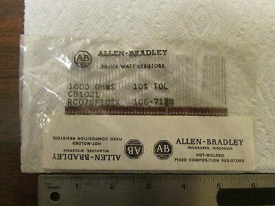 50 Allen-bradley 14-watt Composition Resistors 1000 Ohms 10 Nos Sealed