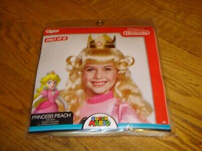 Princess Peach Baby Costume (NEW Girls Nintendo Super Mario PRINCESS PEACH Costume Child WIG)