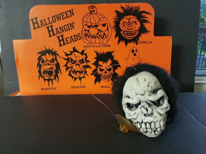 Vintage Halloween Creepy Head Suction Cup Skull New Old Stock