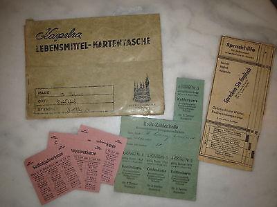 Kapeha Lebensmittel-Kartentasche - Marken 1920/21 - Sprachhilfe Deutsch Englisch