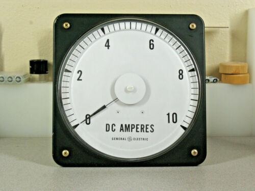 "GE Huge 8"" Speedometer Dial Steampunk Switchboard Meter 2 milliamps Full Scale."