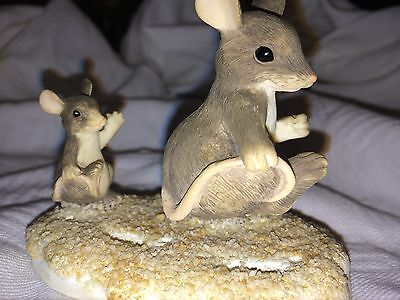 """Charming Tails """"FOLLOW IN MY FOOTSTEPS""""  SIGNED BY DEAN GRIFF FITZ & FLOYD"""
