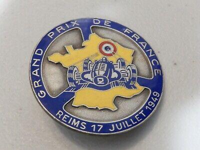 Vintage Grand Prix De France Reims 17 Juillet 1949 Club Car Badge Auto Emblem