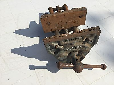"GENUINE VINTAGE RECORD NO 52 QUICK RELEASE WOOD WORKING VICE 7"" JAWS"