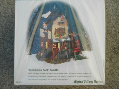 DEPT 56 ALPINE Village GETREIDEMUHLE ZWETTL GRAIN MILL NIB *Still Sealed*