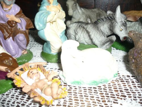 MIXED LOT 12+1 FREE VINTAGE FIGURINES NATIVITY #2457