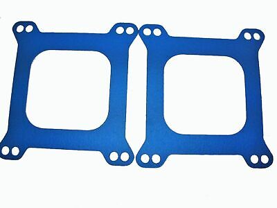 Holley Carburetor Carb Base Gasket Flange 2 PACK Edelbrock Blue Non Stick G5