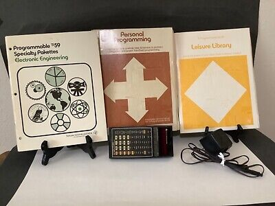 Texas Instruments TI-59 programmable hand calculator Master library manual Plus