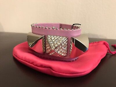 Juicy Couture Pave Pyramid Leather Cuff Bracelet. Lavender Purple. MSRP $72 Pave Pyramid Cuff
